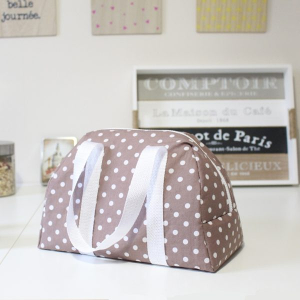 Lunch bag Elsa taupe - kit couture
