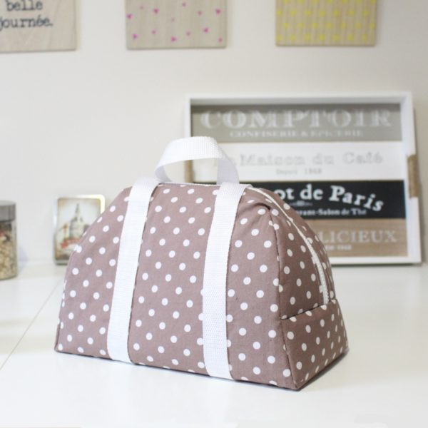 Lunch Bag Elsa Taupe Back