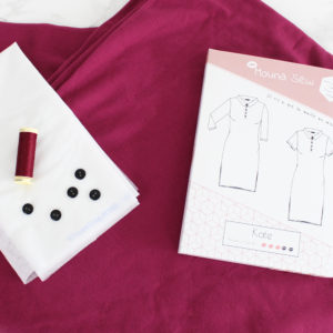 kit de couture robe Kate framboise