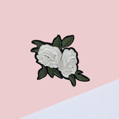 Patch rose blanche