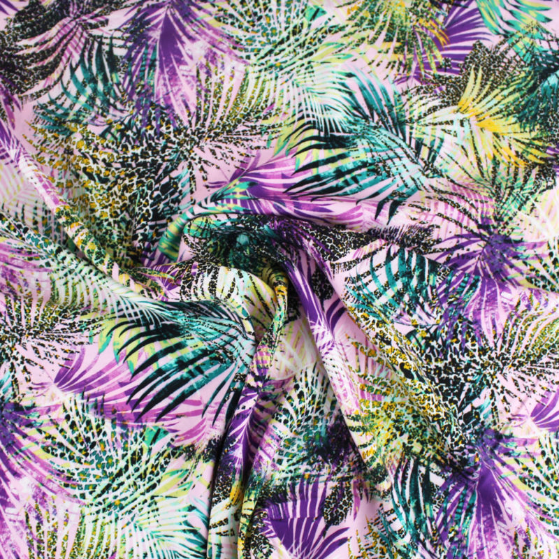 Viscose tropical jungle