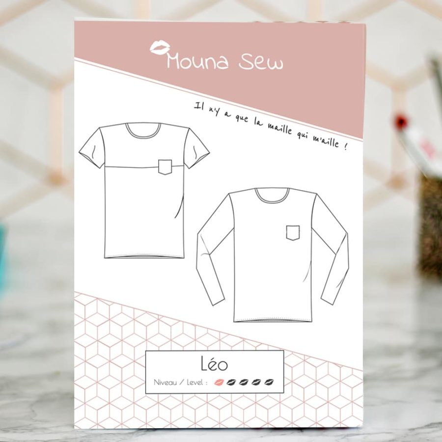 Patron couture t-shirt pull Léo