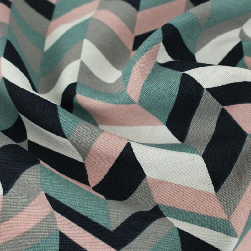 Tissu chevron zigzag