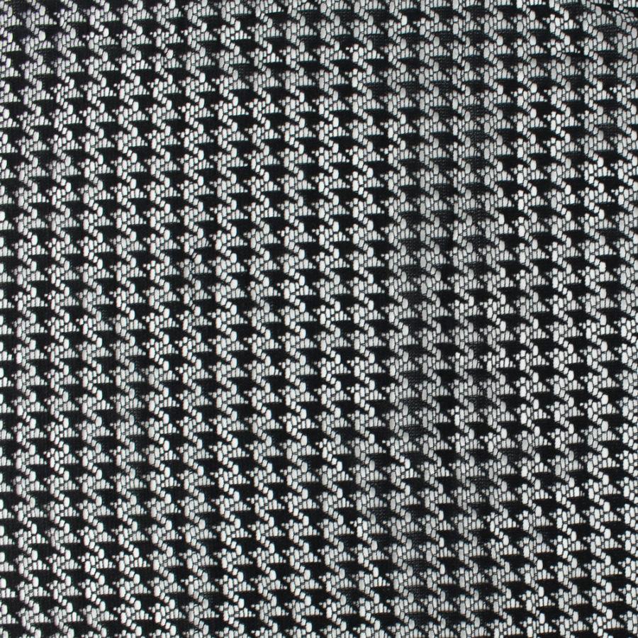Tissu Dentelle pied de poule noir