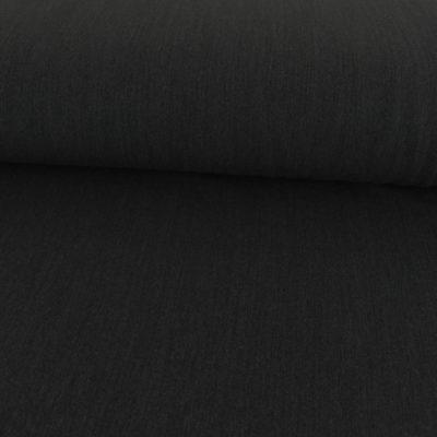 Tissu gabardine stretch noire