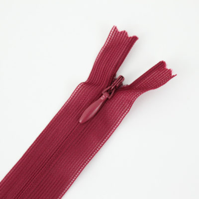 Zip invisible framboise