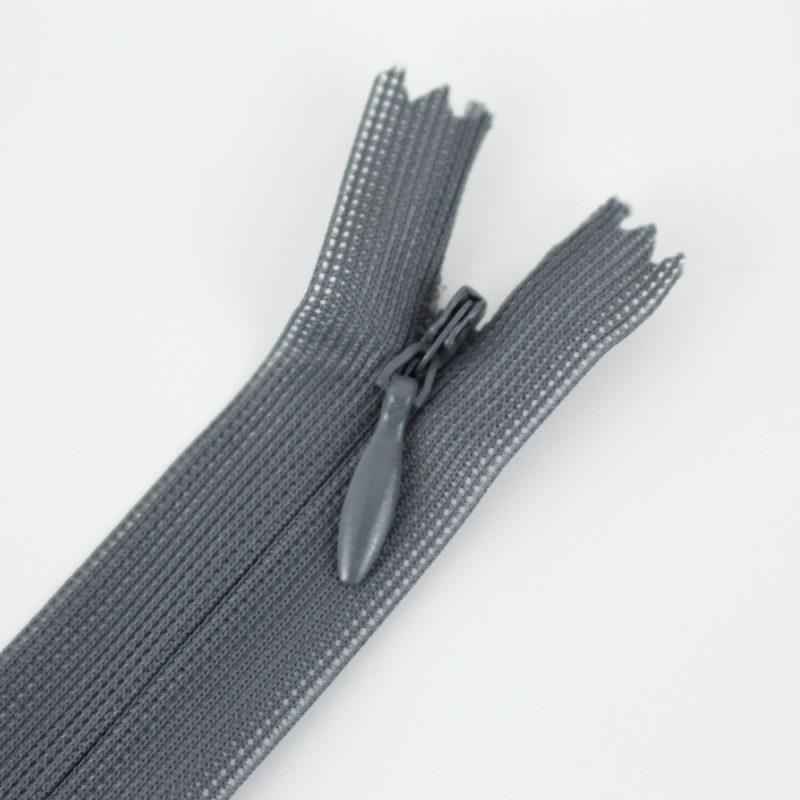 Zip invisible gris foncé