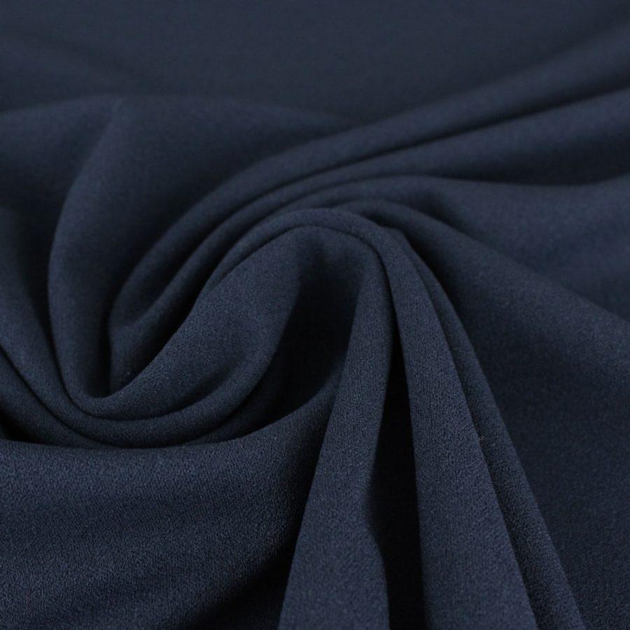 Tissu Crêpe mousseux bleu marine