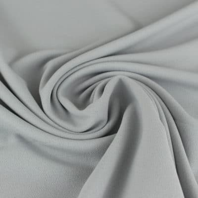 Tissu Crêpe mousseux gris clair