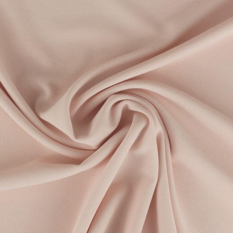 Tissu Crêpe mousseux rose clair