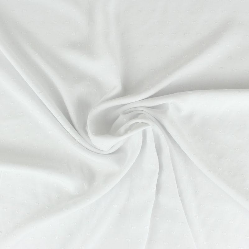 Tissu Viscose plumetis - blanc