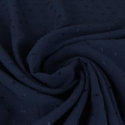 Tissu Viscose plumetis - bleu marine