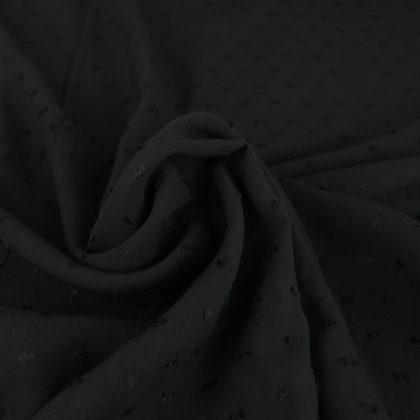 Tissu Viscose plumetis - noir