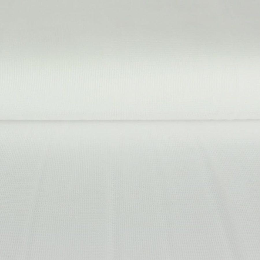 Tissu Voile de doublure maille blanc