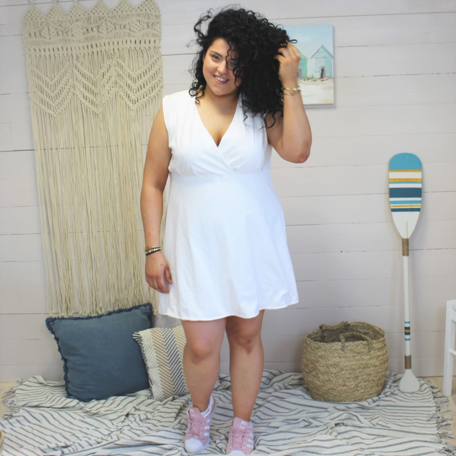 Fanny en robe océane