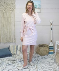 Kit couture robe crepe rose crystal