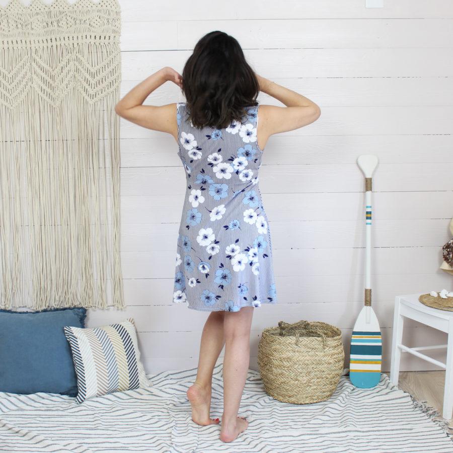 Kit de couture robe Océane en jersey de viscose