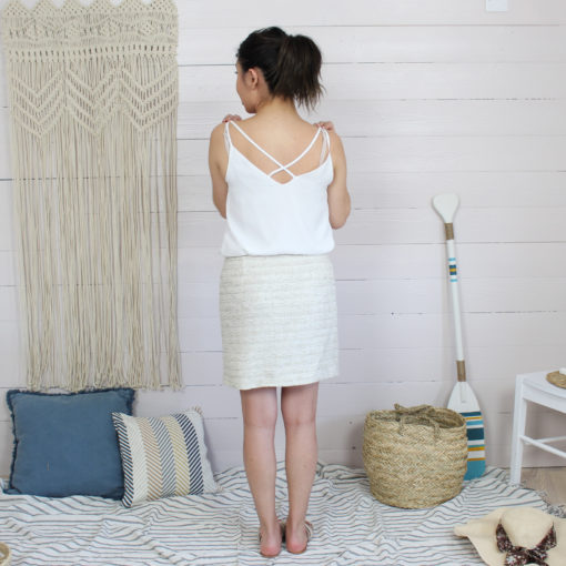 Kit couture jupe victoire en tissu channel tweed sable