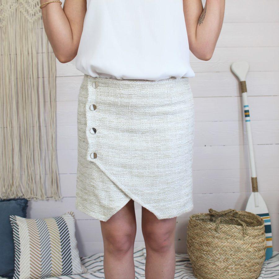 Patron de couture jupe portefeuille mounasew
