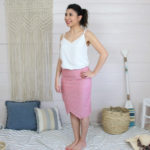 Patron couture jupe crayon portefeuille mounasew