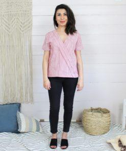 Patron de couture de la blouse naia