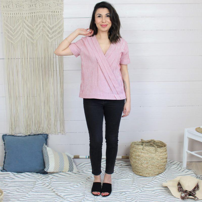 Patron de couture de la blouse Naia MounaSew