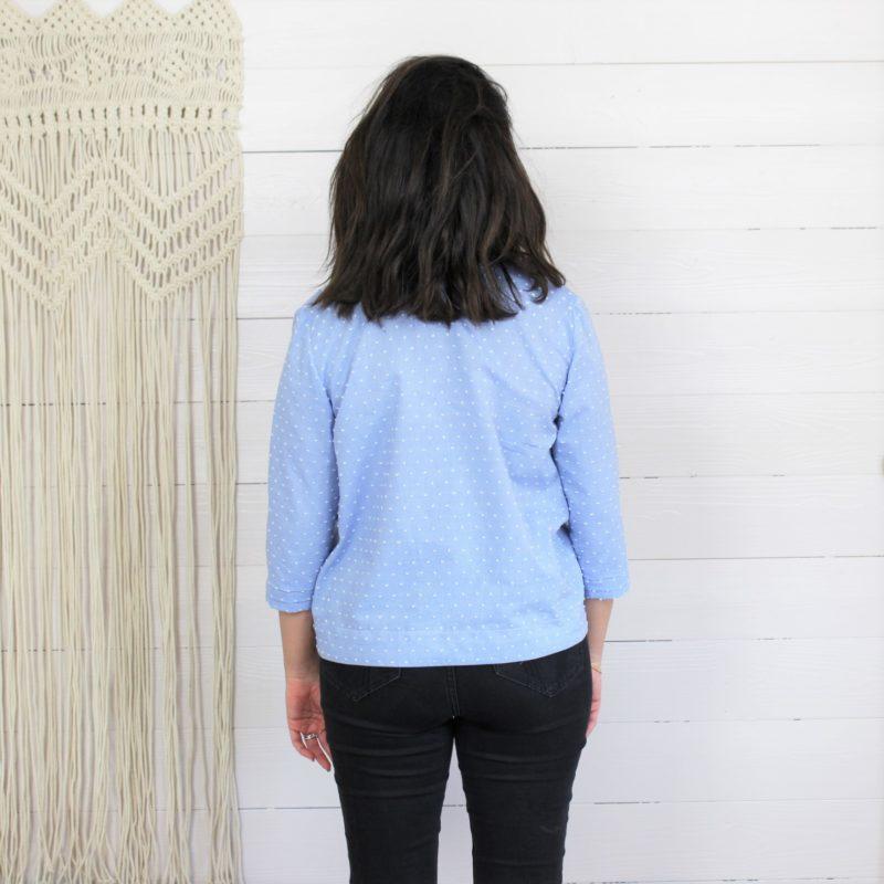 Kit de couture naia plumetis bleu