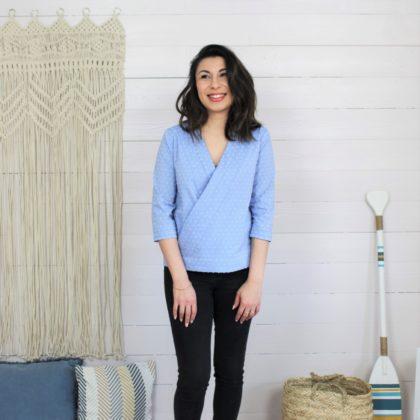 patron couture blouse naia manches 3/4