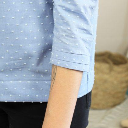 Zomme sur la blouse naia plis bas de manches
