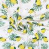 Tissu viscose citrons écru
