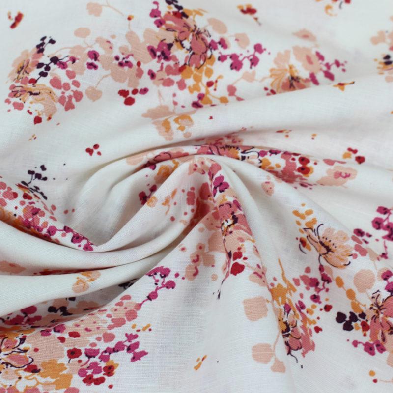 Tissu coton bouquet d'été chaud
