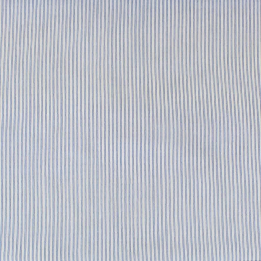 Coton gondolé et léger à rayures bleu ciel