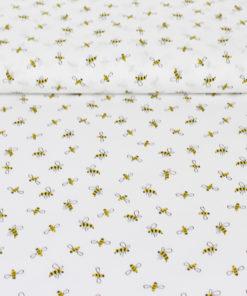 Tissu popeline coton little bee