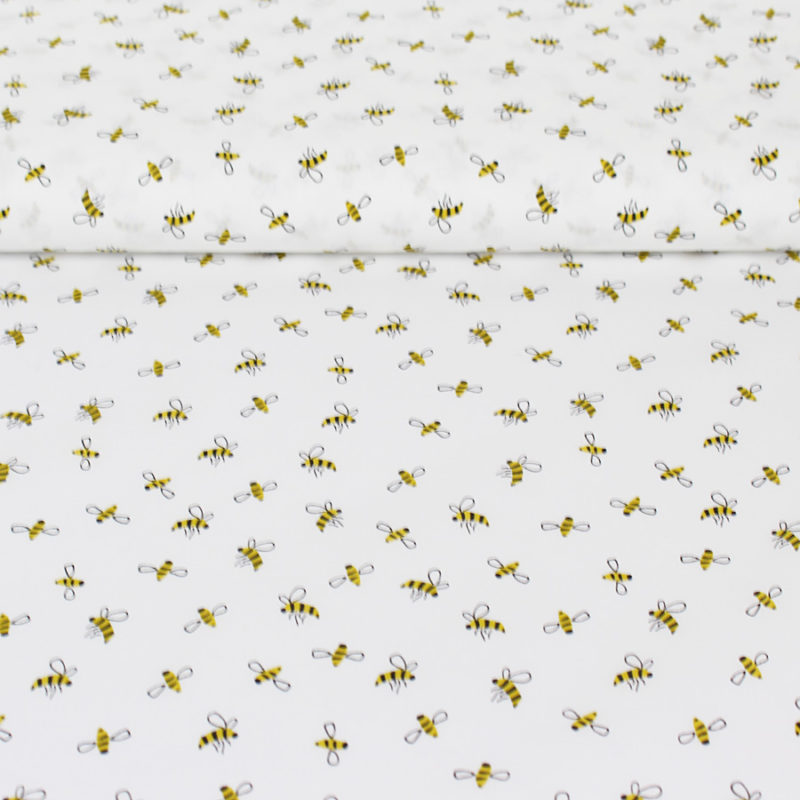 Tissu popeline coton little bee