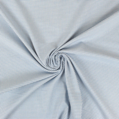 Tissu coton bb à carreaux 2 mm bleu