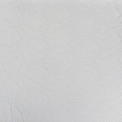 Tissu Dentelle guipure feuilles - blanc