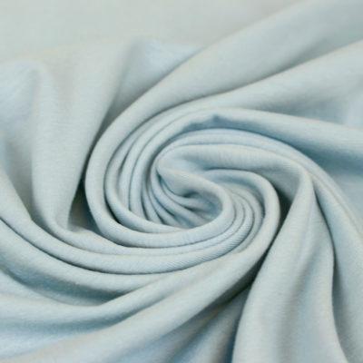 Tissu jersey de coton Oeko Tex bleu ciel