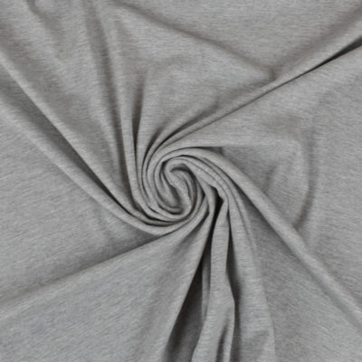 Tissu maille polo grise