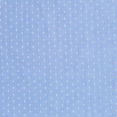 Tissu plumetis bleu et blanc