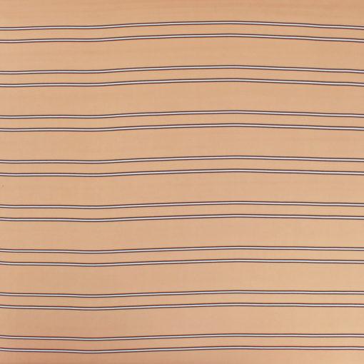 Tissu Viscose fines rayures - nude