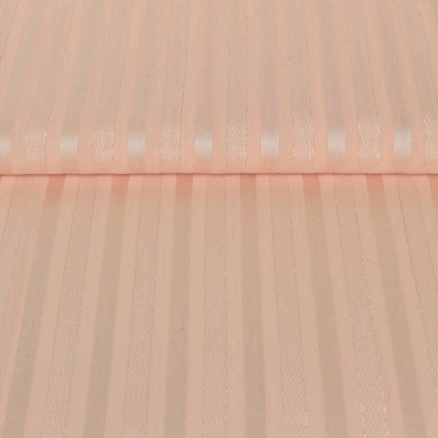 Tissu Voile saumon à rayures