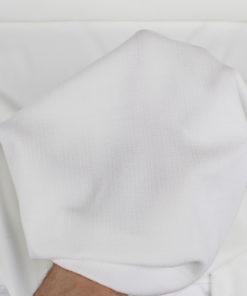 Tissu uni texturé blanc