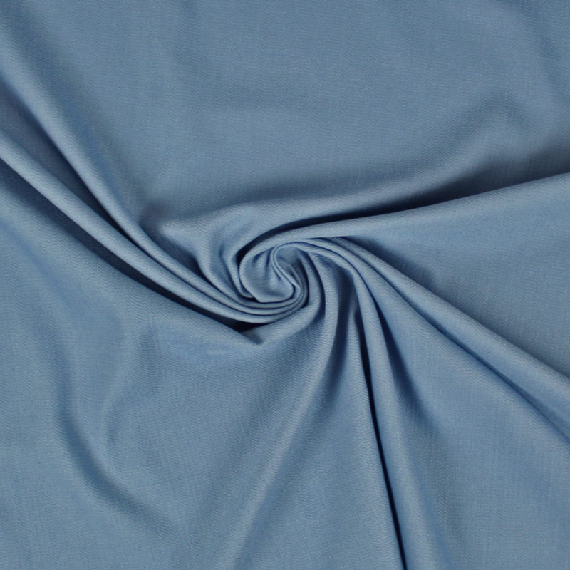 Tissu uni texturé bleu