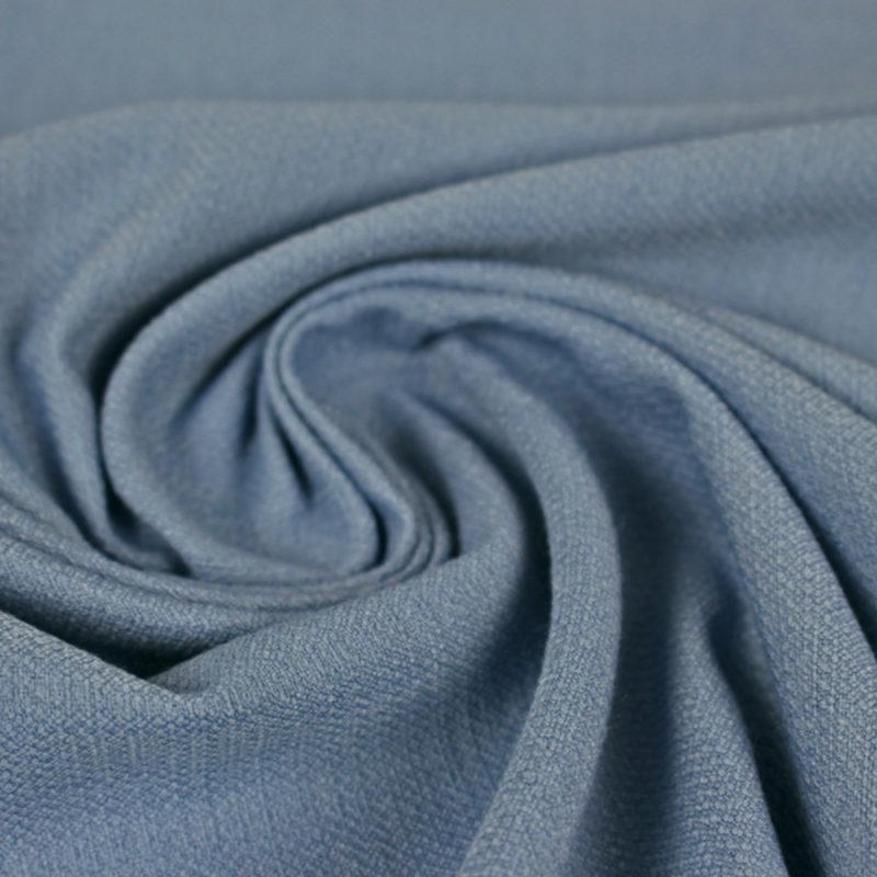 Tissu uni texturé bleu