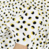Tissu viscose imprimée jaune blanc et noir