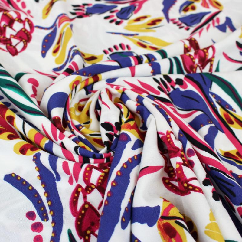 Tissu viscose peinture multicolore