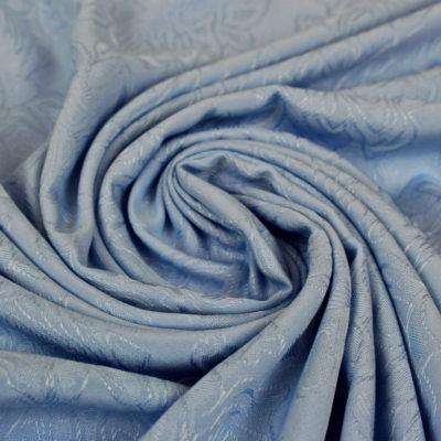Tissu Viscose rose des bois - bleu