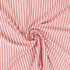 Tissu viscose rayures corail