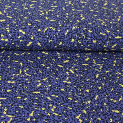 Tissu viscose summer leopard bleu iris