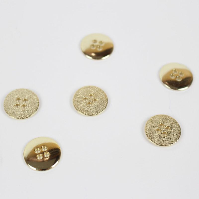 Boutons pépite d'or 18 mm